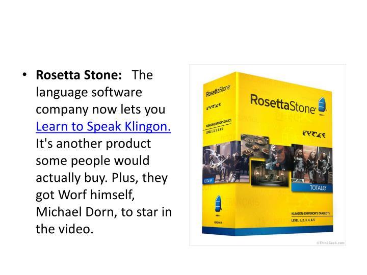 Rosetta Stone: