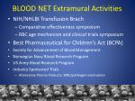 blood net extramural activities