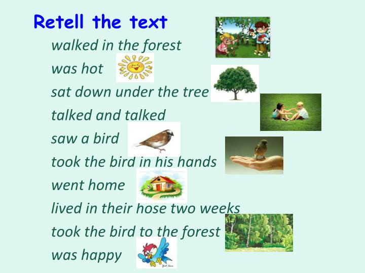 Retell the text