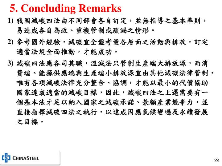 5. Concluding Remarks
