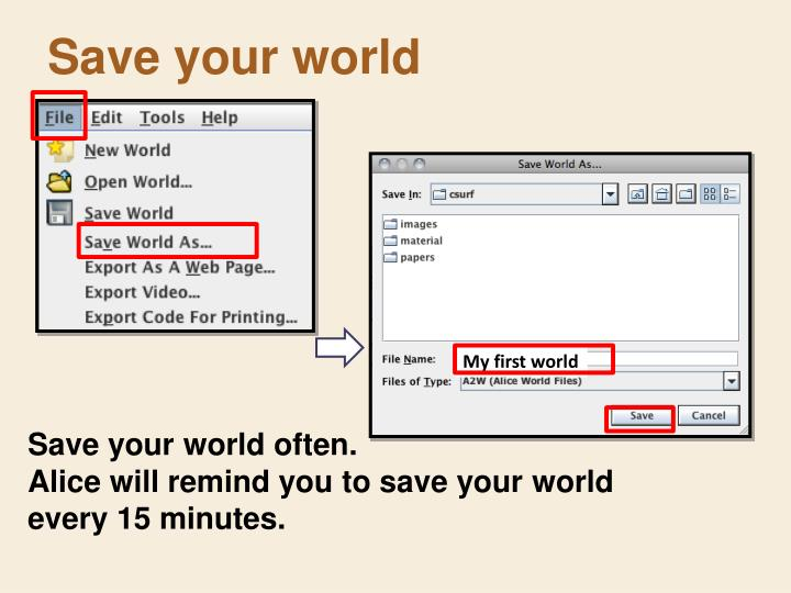 Save your world