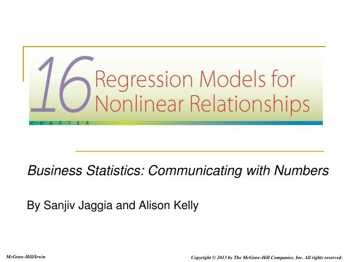 business statistics communicating with numbers by sanjiv jaggia and alison kelly n.