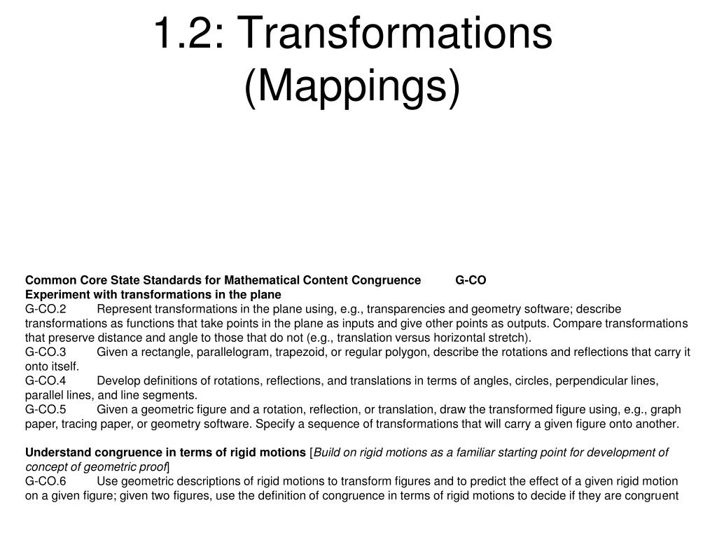 PPT - 1 2: Transformations (Mappings) PowerPoint Presentation - ID