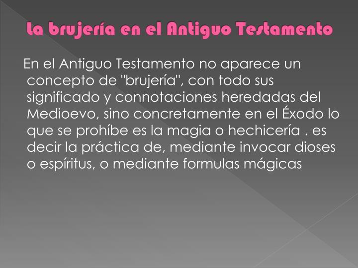 La brujería en el Antiguo Testamento