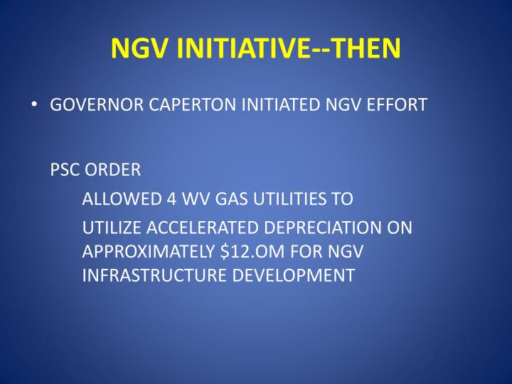 Ngv initiative then