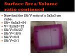 surface area volume ratio continued2
