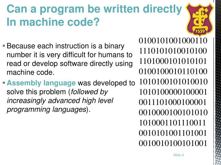 Can a program be written