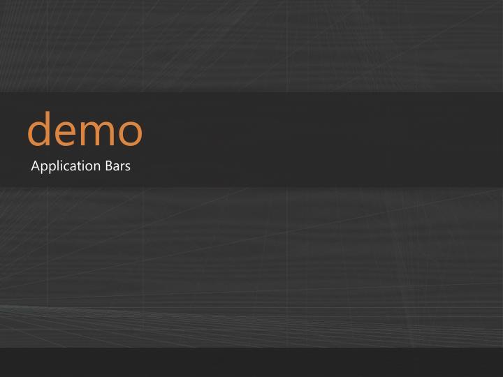 Application Bars