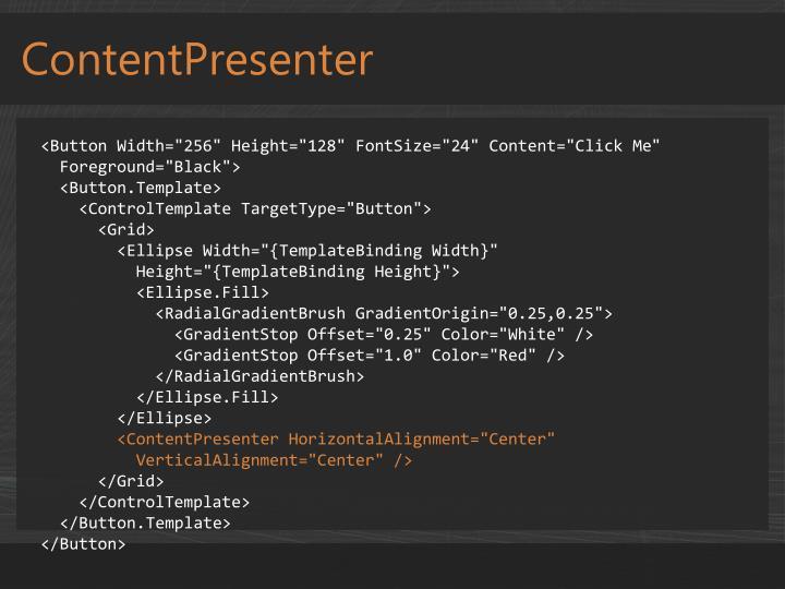 ContentPresenter