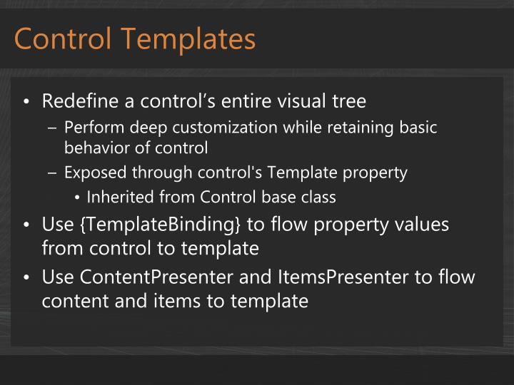Control Templates