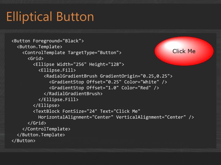 Elliptical Button