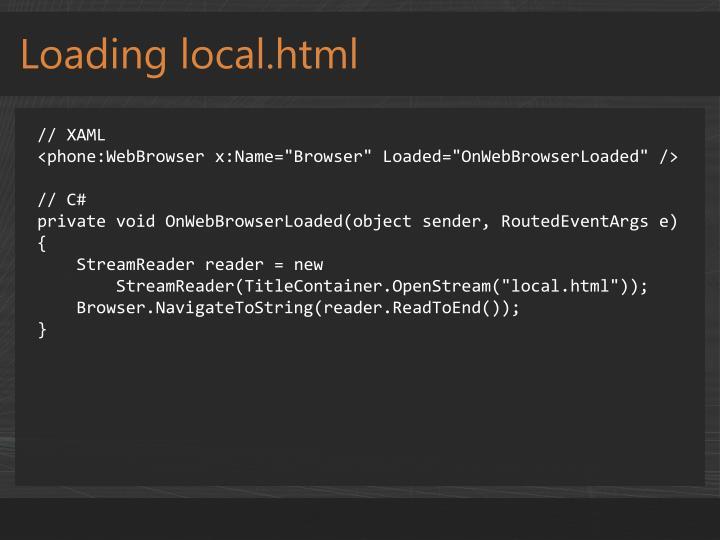 Loading local.html