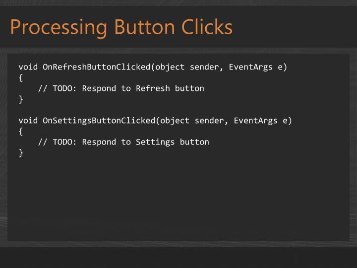 Processing Button Clicks