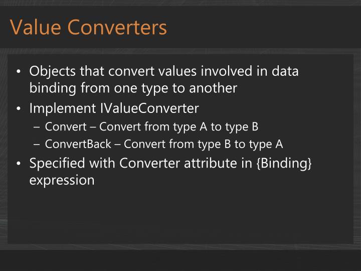 Value Converters