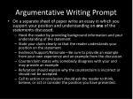 argumentative writing prompt