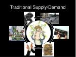 traditional supply demand