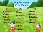 regular verbs v v ed
