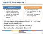 feedback from session 2