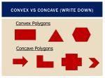 convex vs concave write down