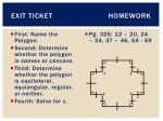 exit ticket homework