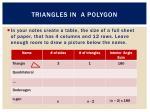 triangles in a polygon