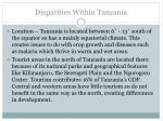 disparities within tanzania2