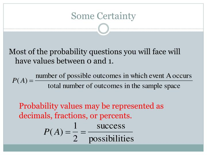 Some Certainty