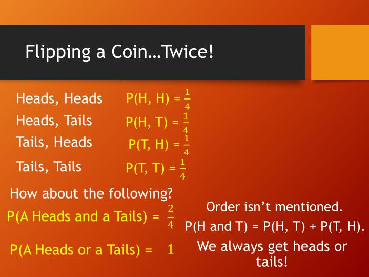 Flipping a Coin…Twice!