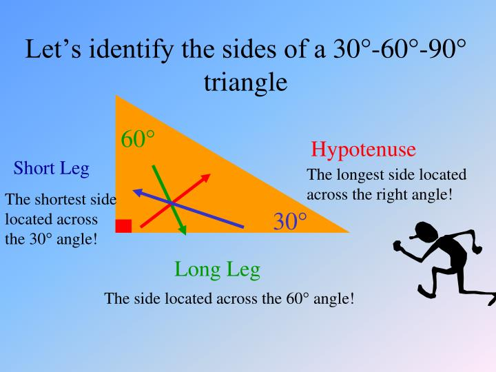 Let s identify the sides of a 30 60 90 triangle