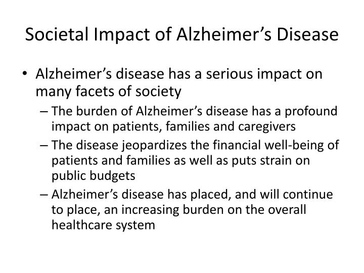 Societal impact of alzheimer s disease