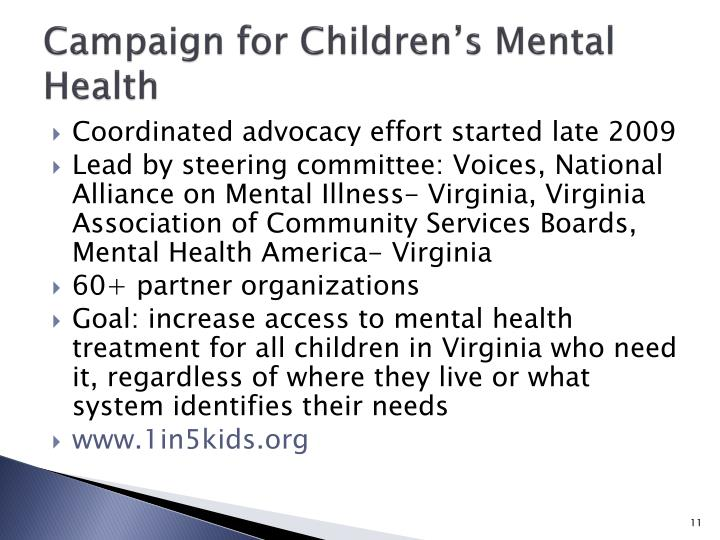 Campaign for Children's Mental Health