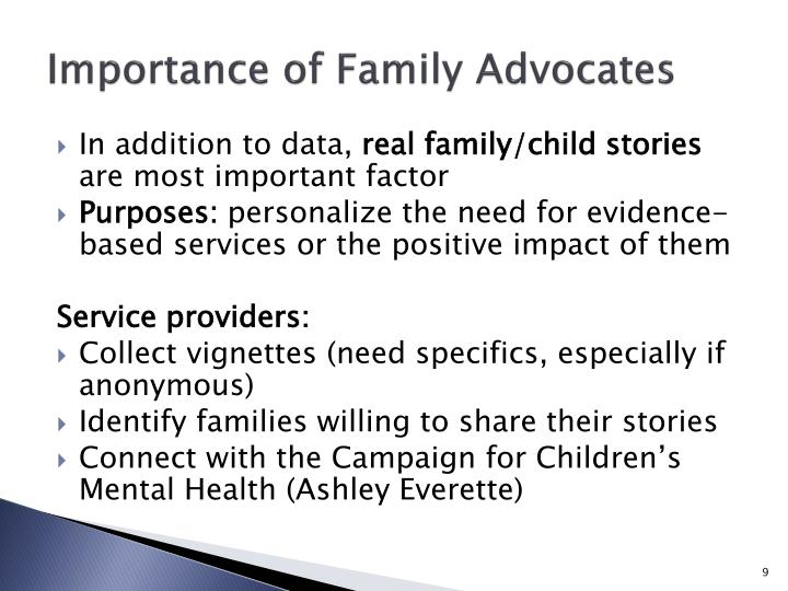 Importance of Family Advocates