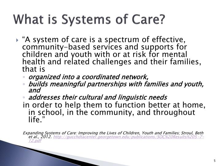 What is Systems of Care?