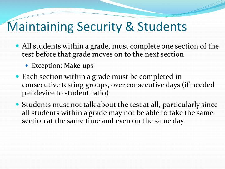Maintaining Security & Students