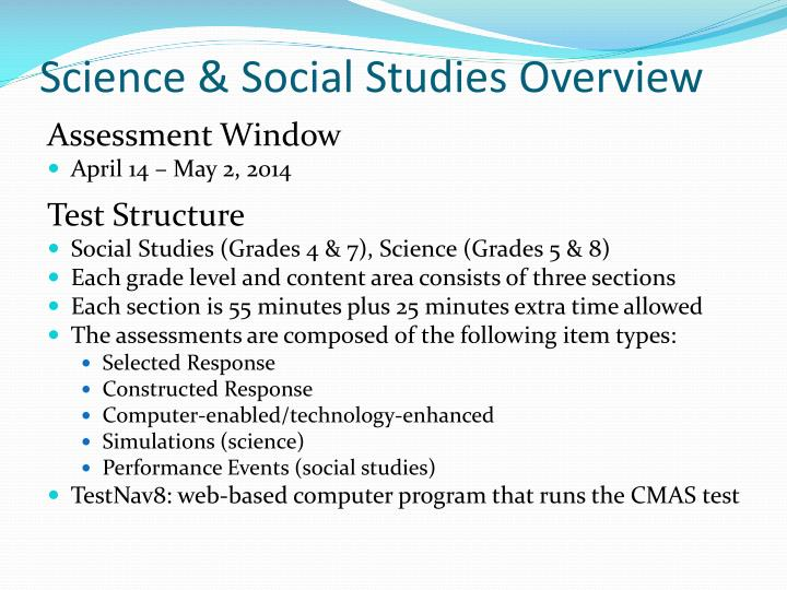 Science & Social Studies Overview