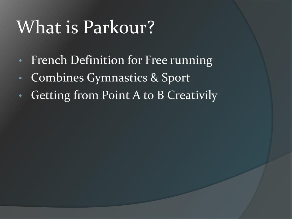 free running definition