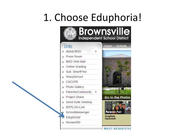 1 choose eduphoria