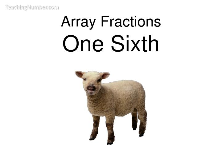 array fractions one sixth n.
