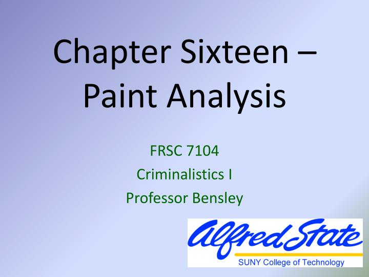 an analysis of the paint