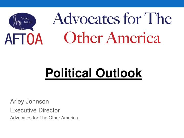 arley johnson executive director advocates for the other america n.
