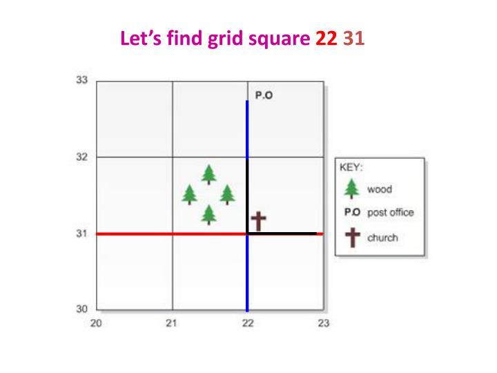 Let's find grid square