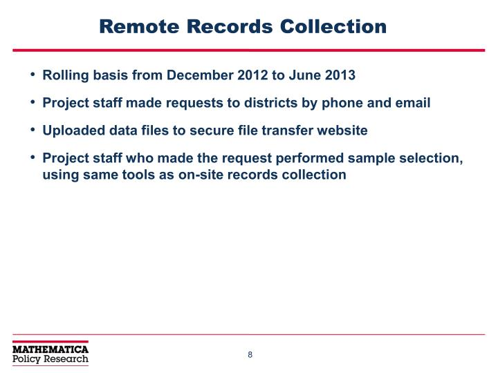 Remote Records Collection