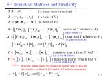 6 4 transition matrices and similarity