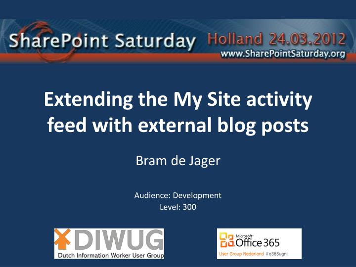 extending the my site activity feed with external blog posts n.
