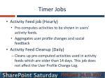 timer jobs