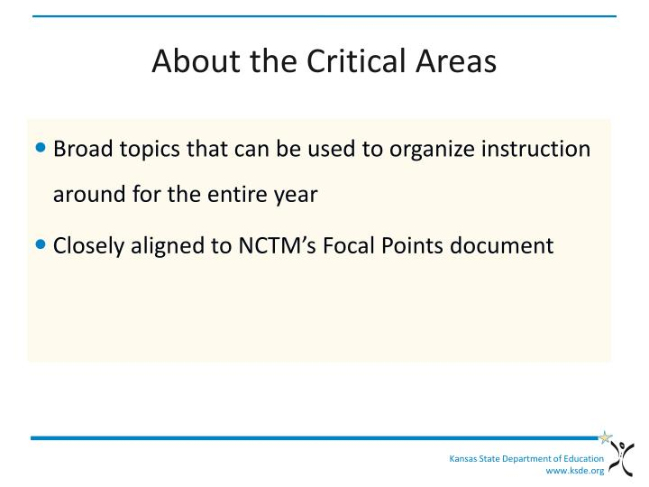 About the Critical Areas