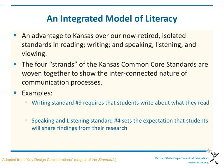 An Integrated Model of Literacy