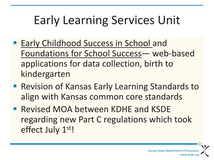 Early Learning Services Unit