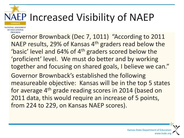 Increased Visibility of NAEP