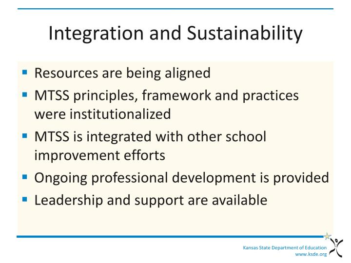 Integration and Sustainability